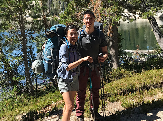 patient back to hiking after spine surgery